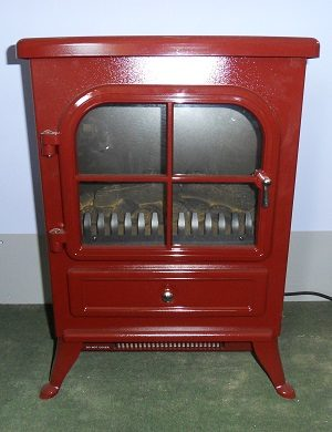 Vista Electric Stove in Red